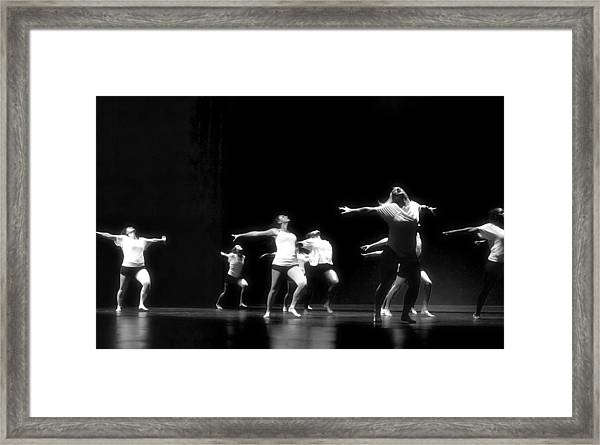 Contemporary Dancers Framed Print