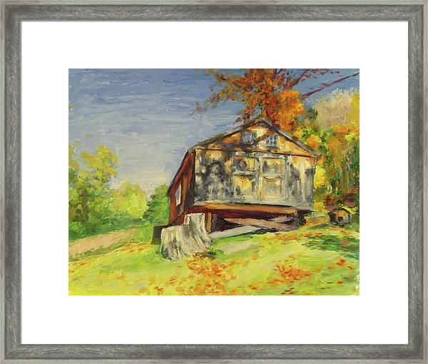 Converted Barn Orrs Mill Ny Framed Print