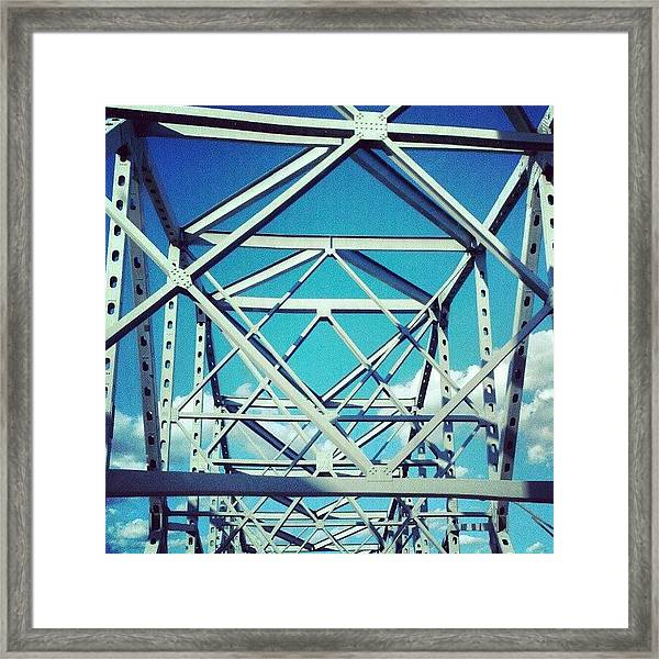 Cool #bridge #ohio Framed Print