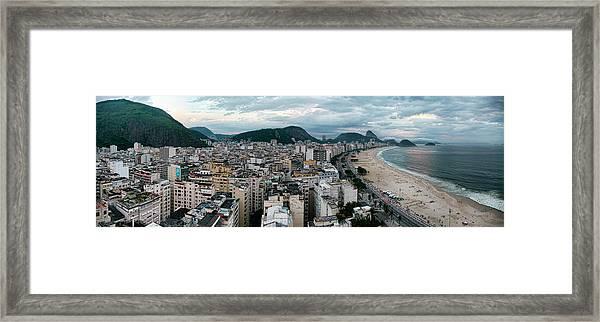 Copacabana Sunset Framed Print