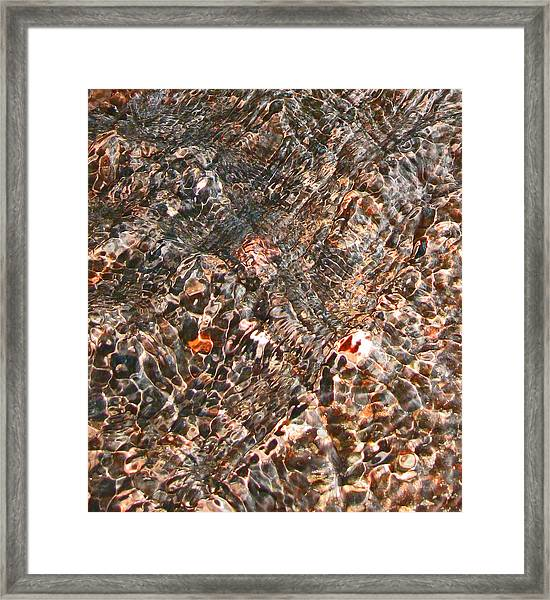 Copper Brook Abstract Framed Print by Seth Shotwell