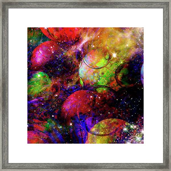 Cosmic Confusion Framed Print