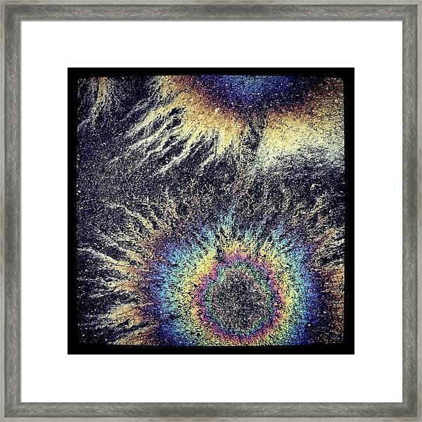 Cosmic Oil-b Framed Print