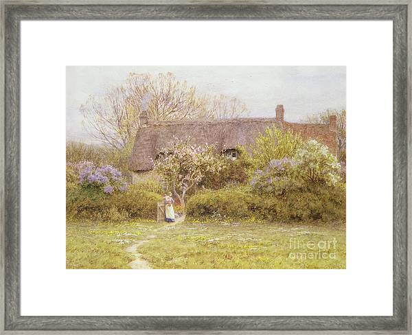 Cottage Freshwater Isle Of Wight Framed Print