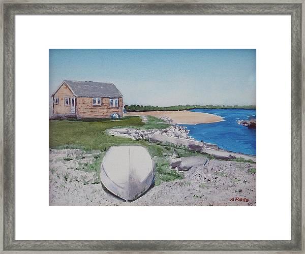 Cottage On The Marsh Framed Print
