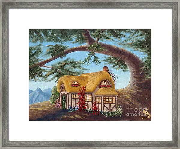 Cottage Under A Branch From Arboregal Framed Print