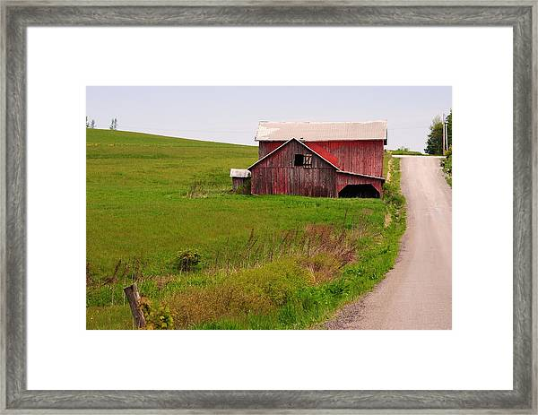 Country Barn Framed Print by April  Robert