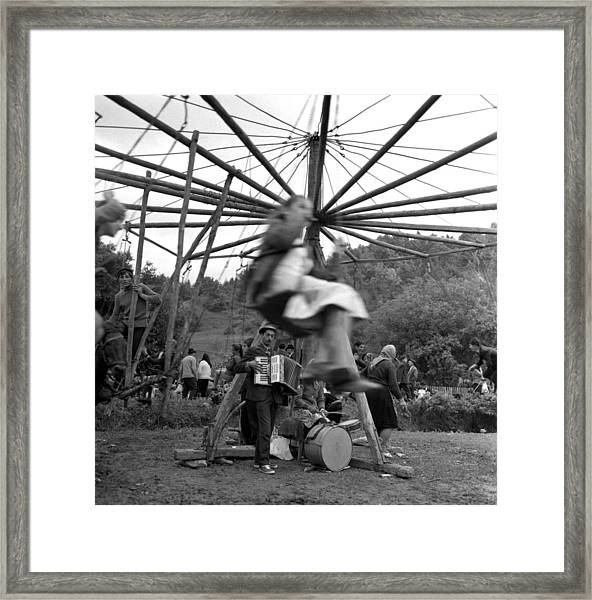 Country Fair Swings With Accordion Framed Print