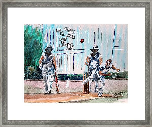 County Cricket Framed Print