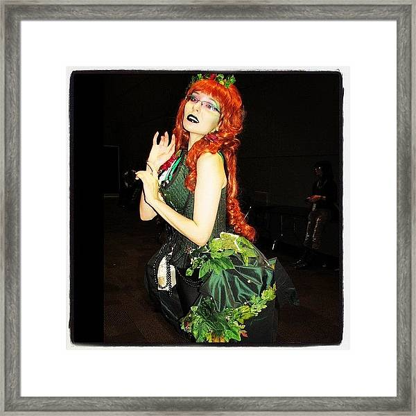 #couture Poison Ivy At #nycc #comiccon Framed Print