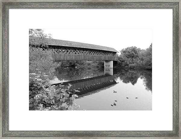 Covered Bridge Guelph Ontario Framed Print