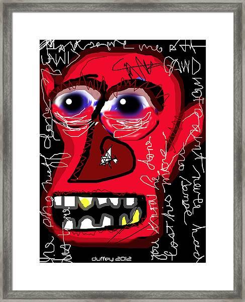 Crackhead 2 Framed Print