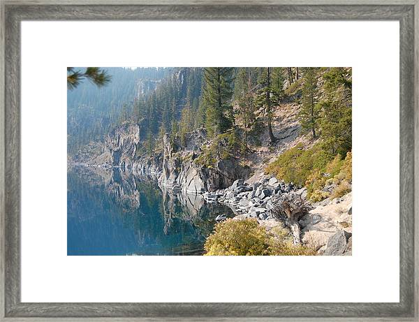 Crater Lake Reflections Framed Print