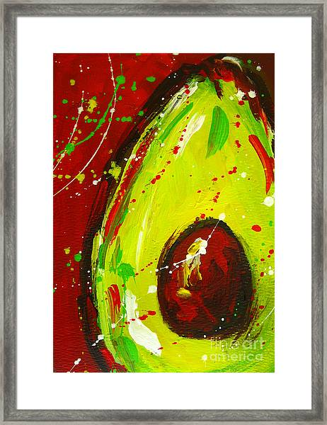 Crazy Avocado 3 - Modern Art Framed Print