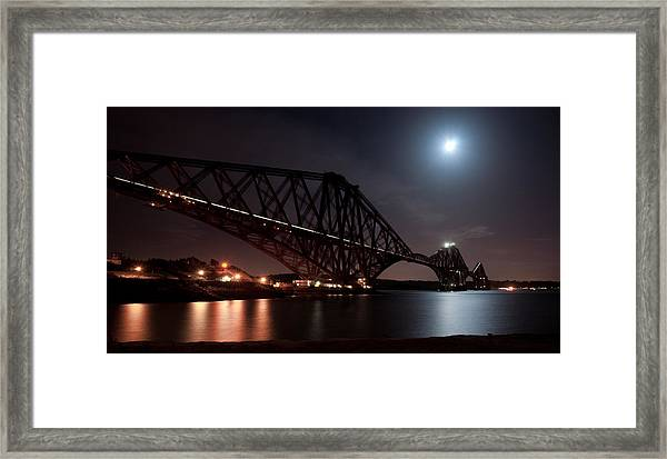 Crossing The Firth Under A Full Moon Framed Print