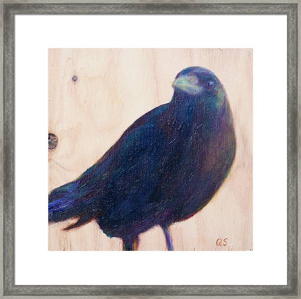 Crow Friend Framed Print