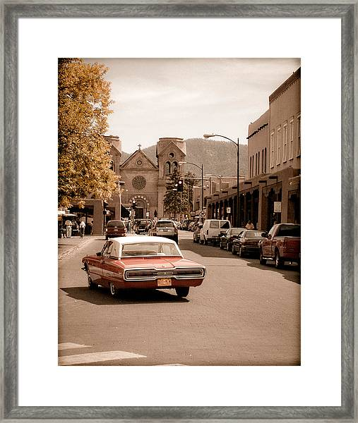 Santa Fe, New Mexico - Cruising Santa Fe Framed Print