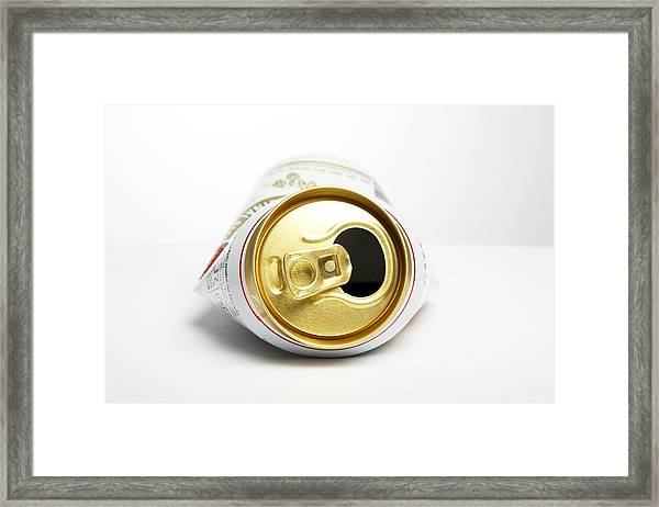 Crushed Beer Can Framed Print