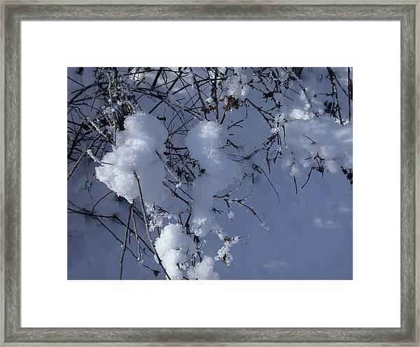 Crytalize Snow Shadows Framed Print