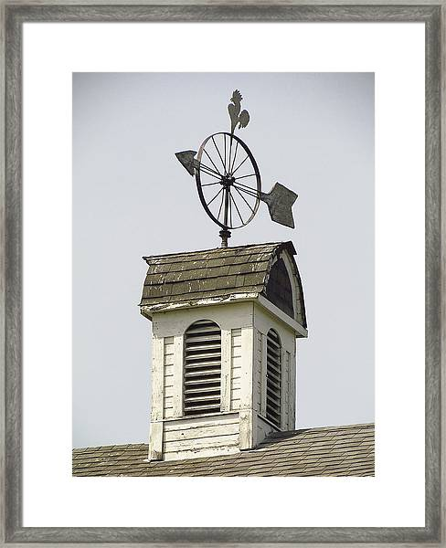 Cupola At Dahmen Barn Framed Print by Tony and Kristi Middleton