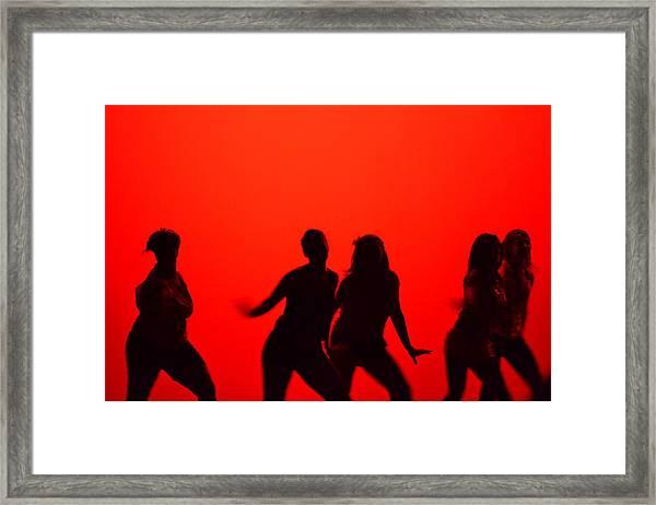 Dance Silhouette Group Framed Print