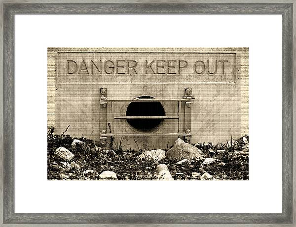 Danger  Keep Out Framed Print