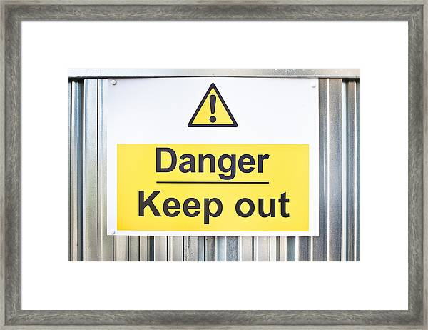 Danger Sign Framed Print
