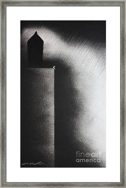 Darkness Shrouds My House Framed Print