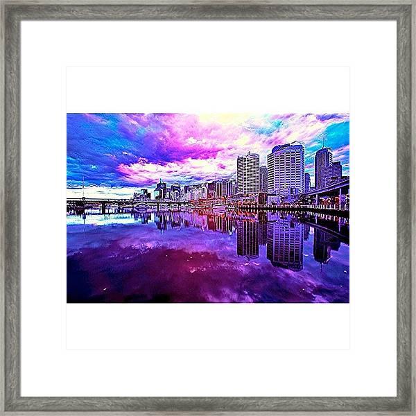 Darling Harbour Is A Harbour Adjacent Framed Print