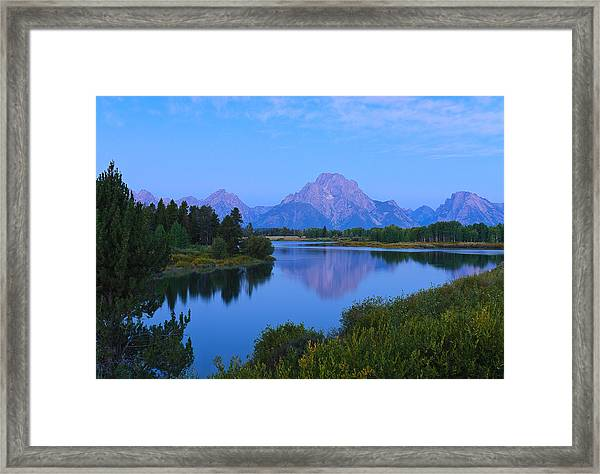 Dawn At Oxbow Bend Framed Print