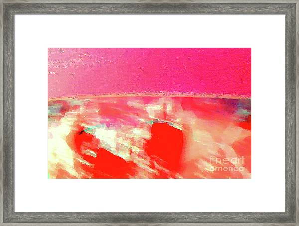 Dawn Of A Big Pink Framed Print