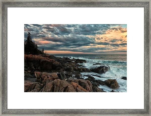 Day's End At Otter Point Framed Print