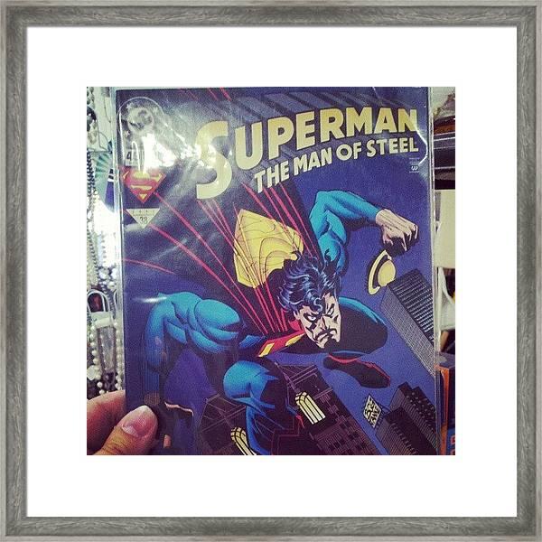 #dccomics #superman Framed Print