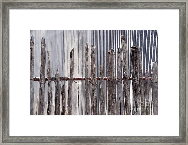 De-fence Framed Print
