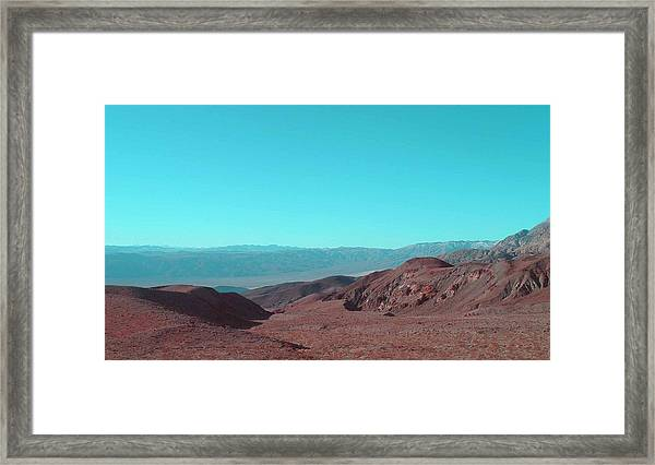 Death Valley View Framed Print by Naxart Studio