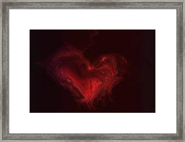 Deep Hearted Framed Print