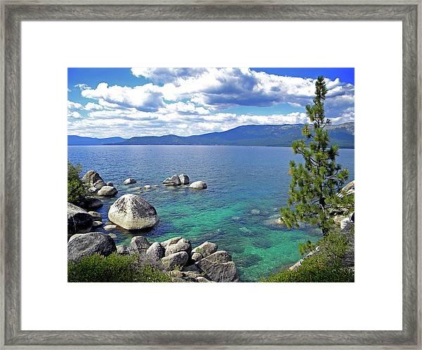 Deep Waters Lake Tahoe Framed Print