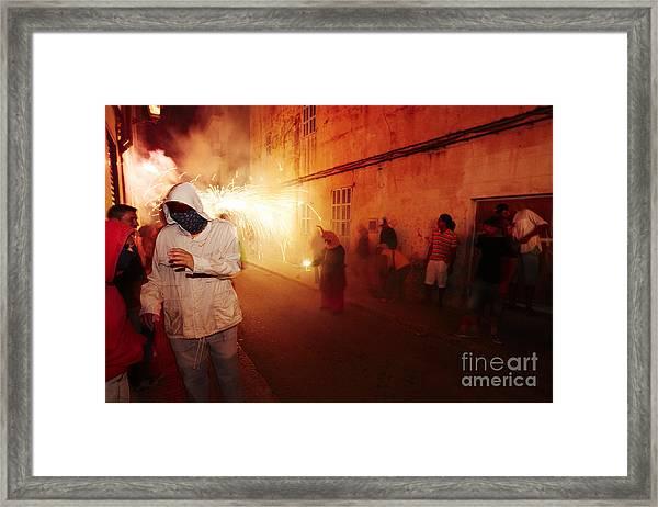 Demons In The Street Framed Print
