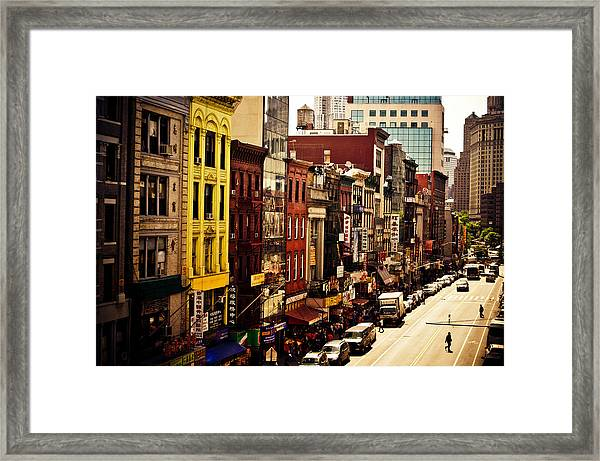Density - Above Chinatown - New York City Framed Print
