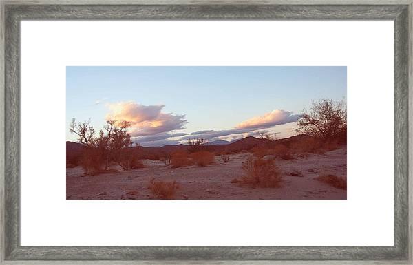 Desert And Sky Framed Print