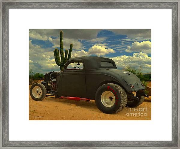 Desert Hot Rod Framed Print