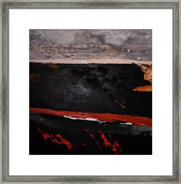 Desert Landscape Framed Print by Mohamed KHASSIF
