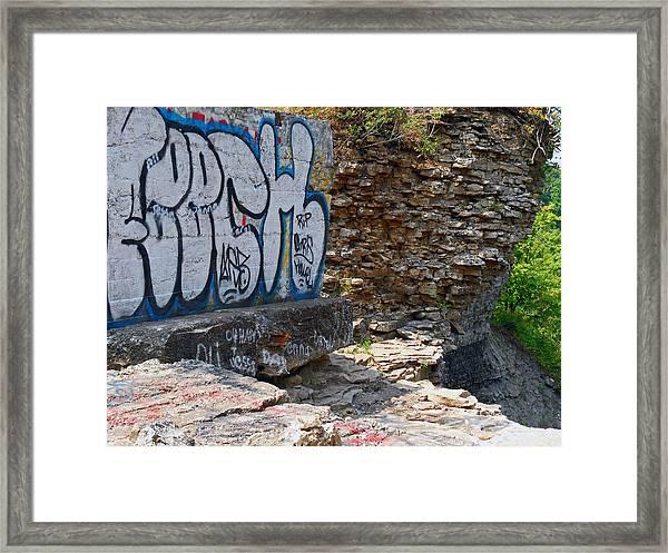 Devils Punch Bowl Grafitti 2 Framed Print
