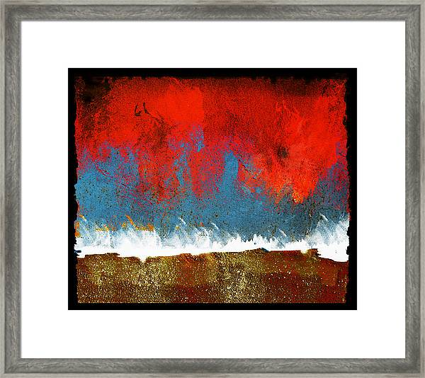 Difference Of Opinioin Framed Print