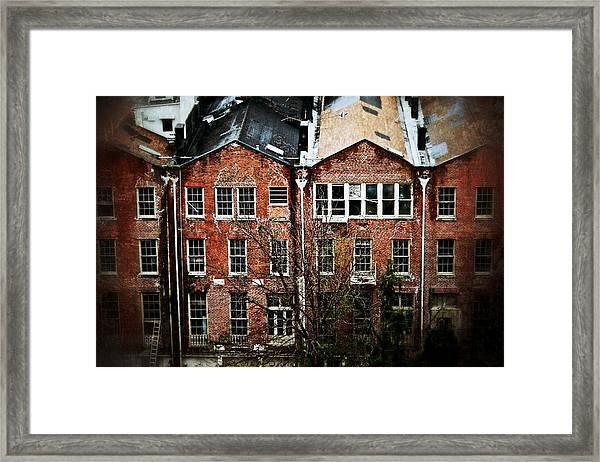Dilapidated Building On Poydras Street Framed Print