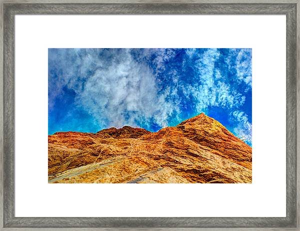 Dirt Mound And More Sky Framed Print