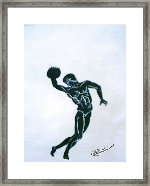 Disc Thrower Framed Print