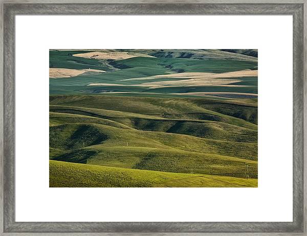 Distant Farmland Framed Print