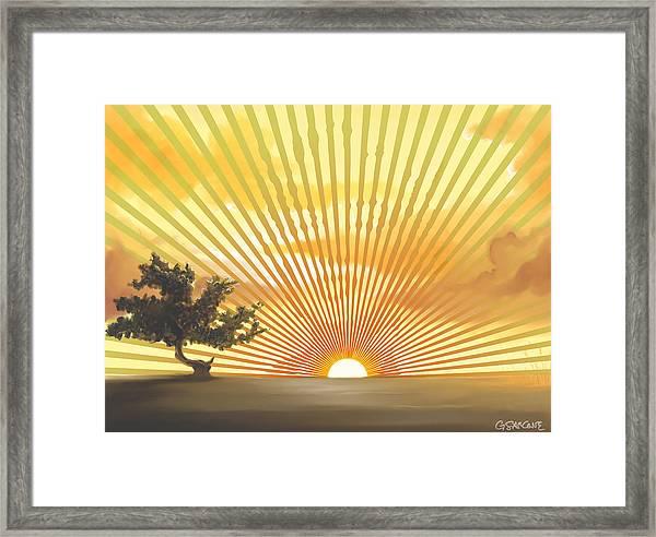 Diva's Sunset Framed Print