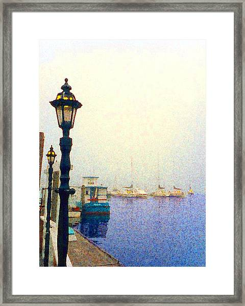 Dock At Newburyport Harbor Framed Print